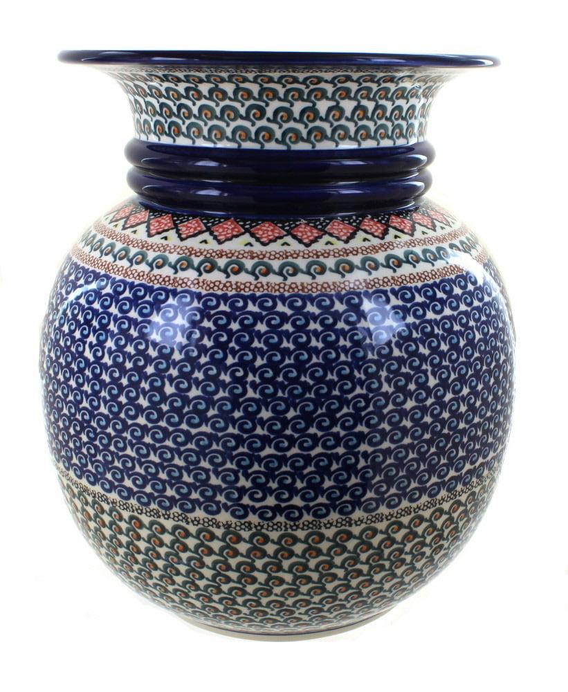 Polish Pottery Blue Horizon Floor Vase Walmart Com