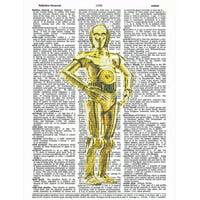 Art N Wordz Star Wars C-3PO Original Dictionary Sheet Pop Art Wall or Desk Art Print Poster