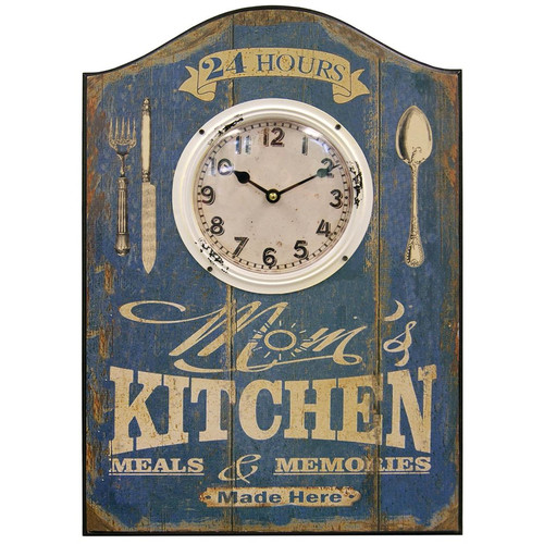 HDC International Mom's Kitchen Plaque Wall Clock