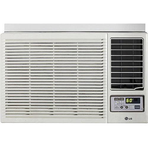 7,000 BTU 115V Window-Mounted Room Air Conditioner with 3,850 BTU Supplemental Heat Pump