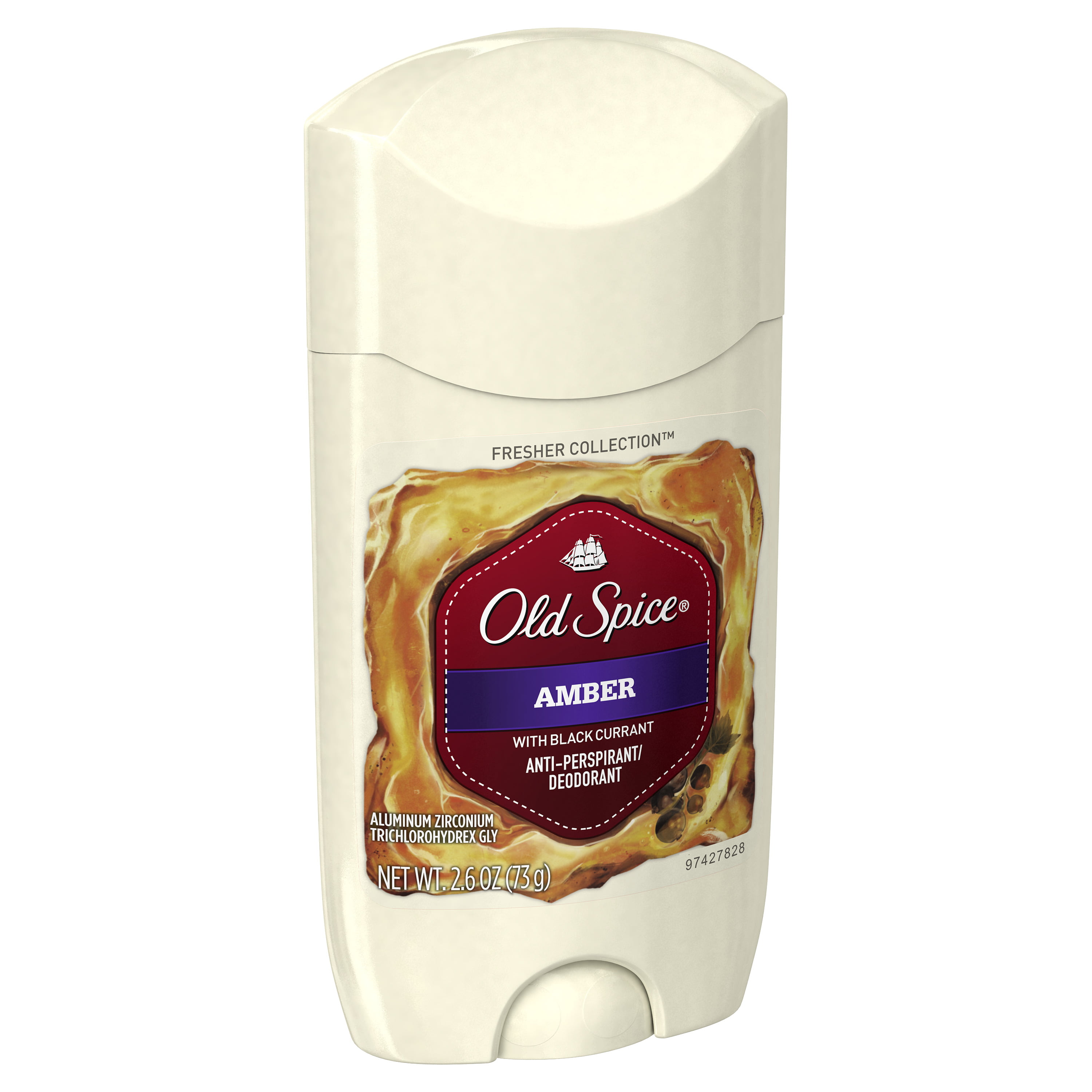 Old Spice Fresher Amber Scent Invisible Solid Antiperspirant and Deodorant  for Men, 2 6 oz
