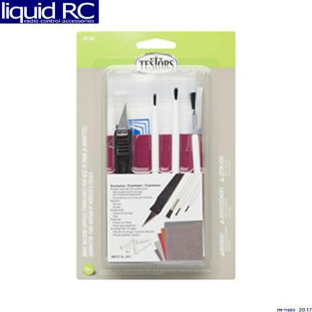 Testors 281208 Model Master Model Building Supplies Set Model Building Supplies Set (Hobby Drop Cloth, Brushes, Hobby Knife, Glue Tips, Sanding Films)