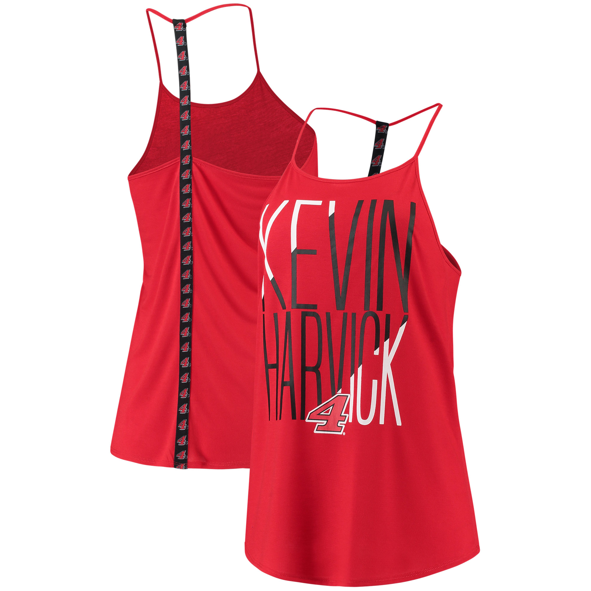 Kevin Harvick Concepts Sport Women's Tempo Tank Top - Red/Black
