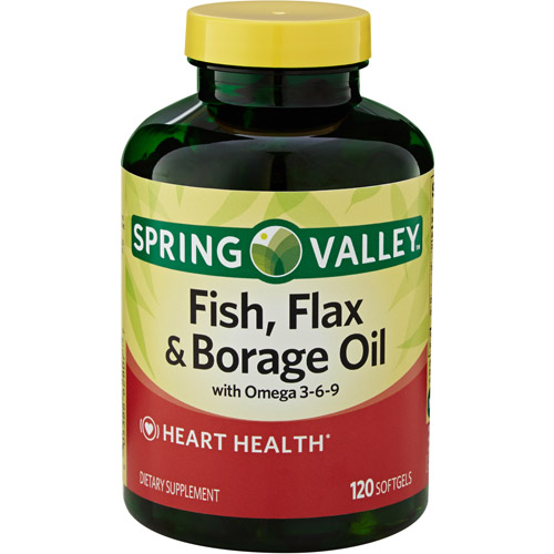 Spring Valley Fish, Flax & Borage Oil Dietary Supplement Softgels, 120 count