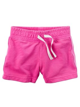 Carters Baby Clothing Outfit Girls Sparkle Side Stripe Neon French Terry Shorts Pink