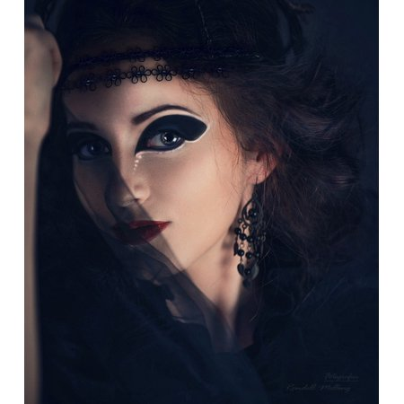 LAMINATED POSTER Eyes Girl Vintage Veil The Witch Woman Halloween Poster Print 24 x 36