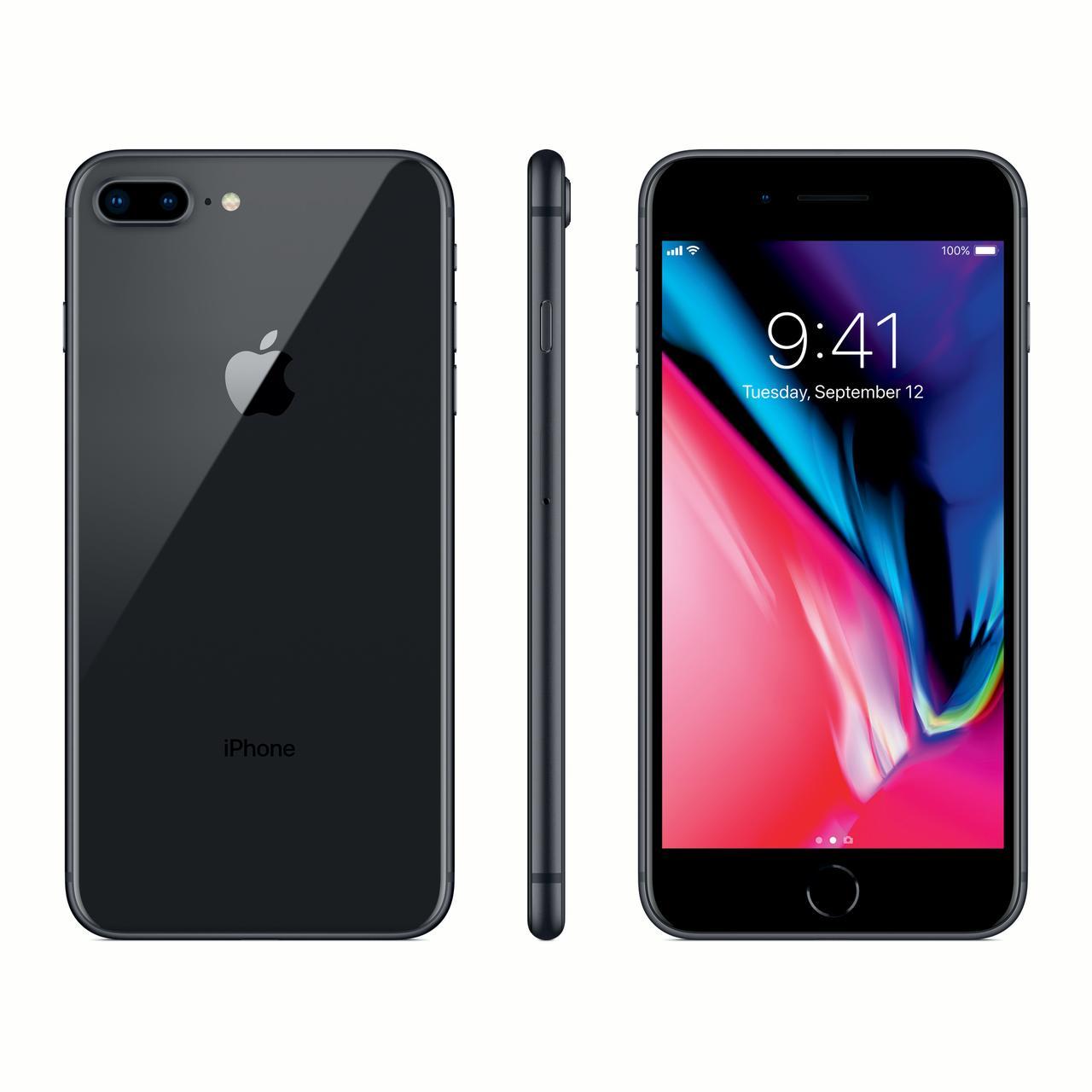 Refurbished Apple iPhone 8 Plus 256GB, Black - Unlocked (B-GRADE)