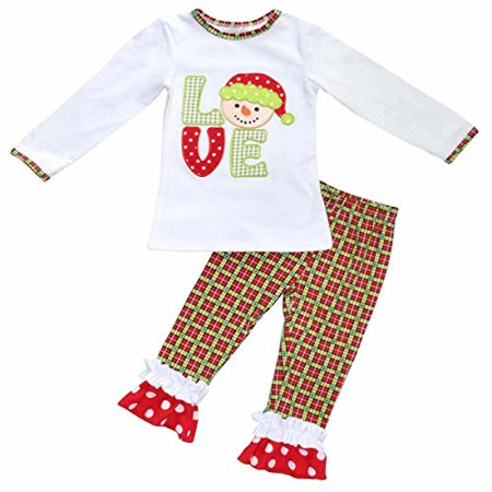 Girls Christmas Snowman Outfit (8) - Snowman Outfit