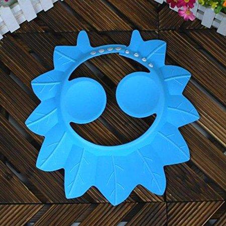 Lightahead? Shampooing Douche Baby Safe Cap Protection de bain doux Chapeau Earmuffs Cap Wash Bouclier cheveux pour enfants en bas âge, les bébés, les enfants et les enfants de garder l'eau hors de leurs yeux et le visage (bleu)
