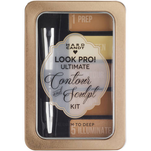 Hard Candy Look Pro! Ultimate Face Kit, 1100 medium to Deep, 0.33oz