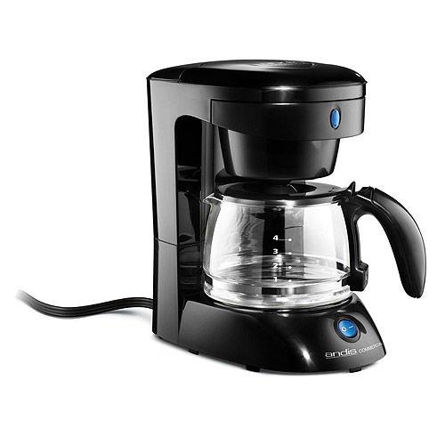 Andis 4-Cup Coffee Maker, 69050A, Black