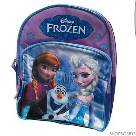 - Disney Frozen Anna & Elsa Girls Juniors Backpack Purple - 12 Inch