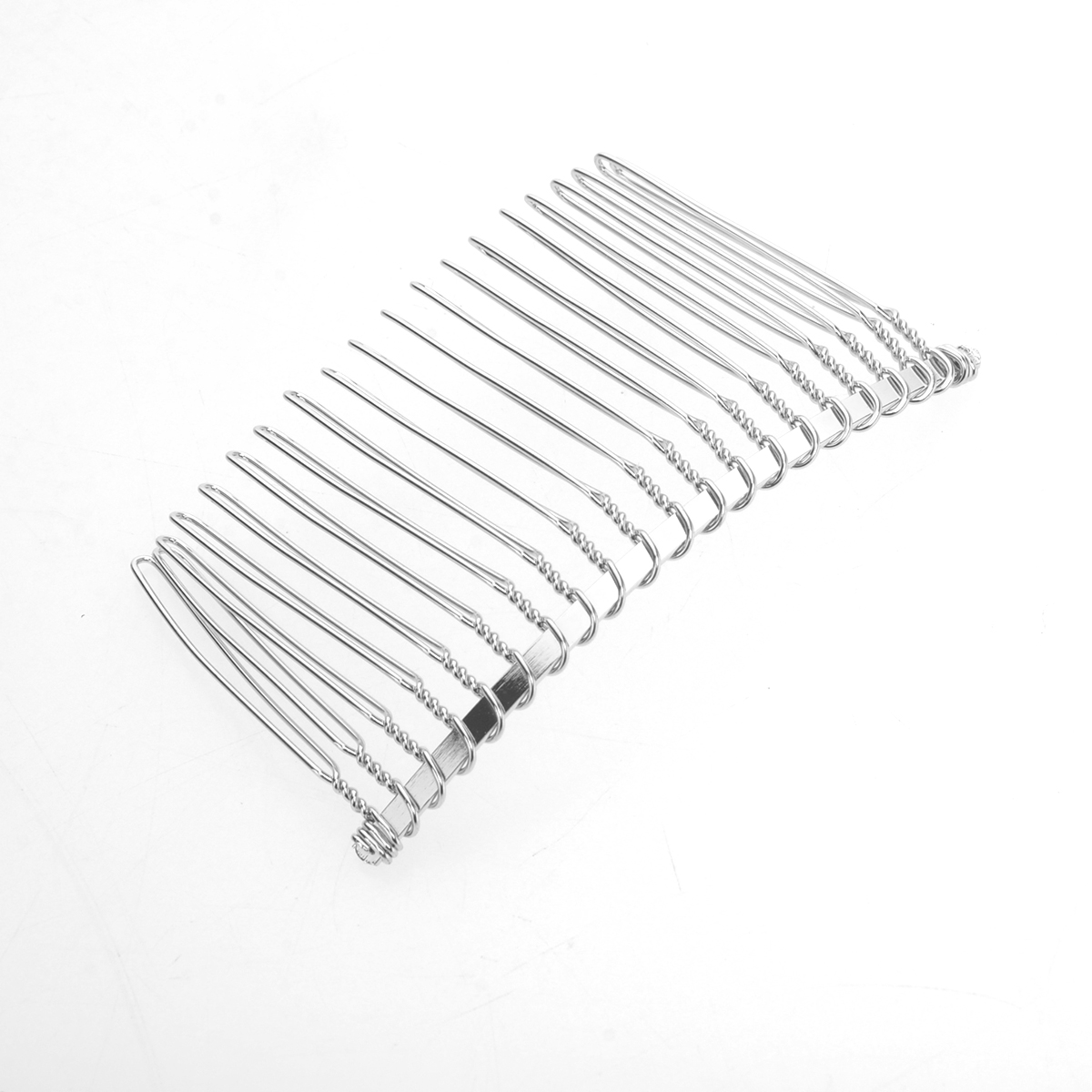 "5 Pr 10 SILVER 3/""  Styling Hair Comb  20 teeth wire metal Create Double Slide"