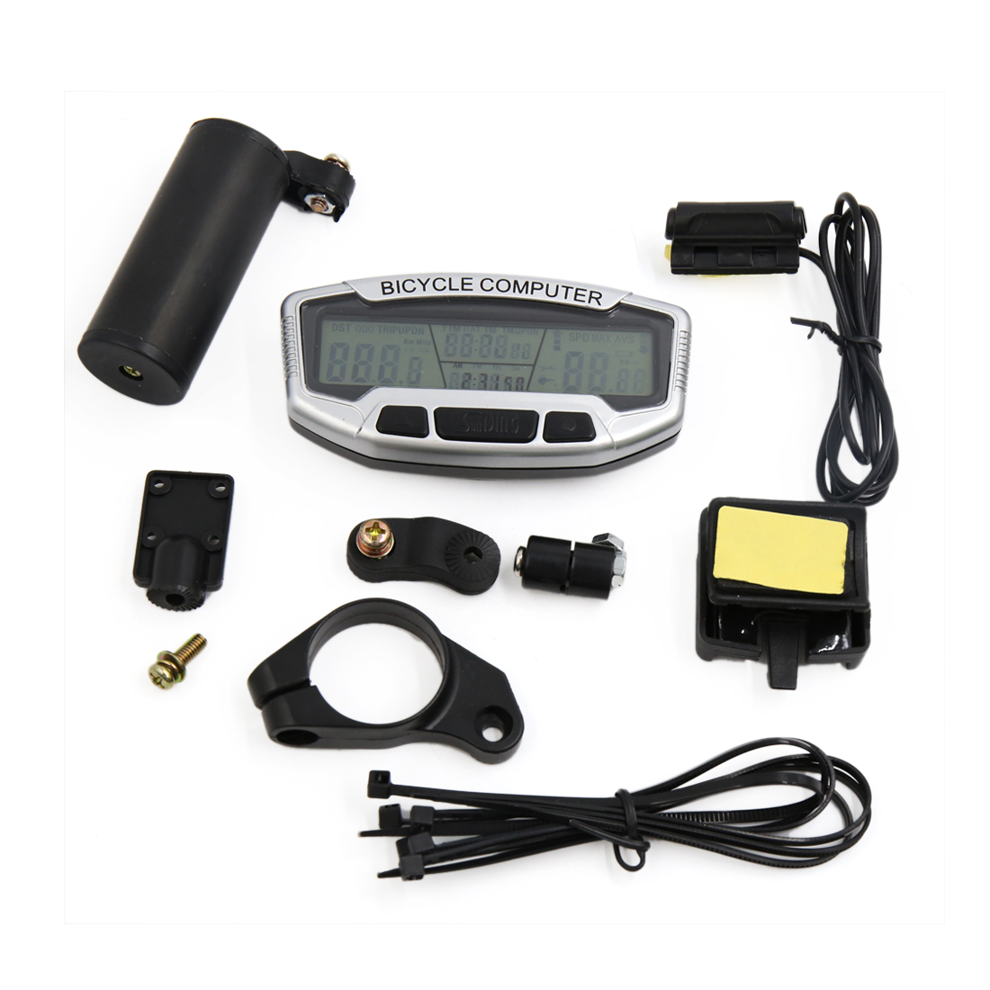 Cycling Bicycle Waterproof  Noctilucous LCD Computer Odometer Speedometer