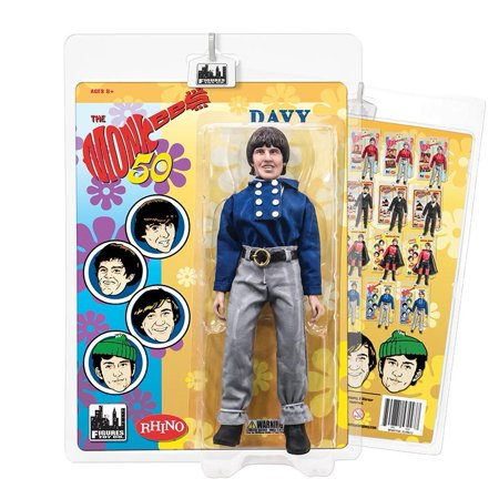 Retro Tops (The Monkees 8 Inch Action Figures: Blue Band Outfit: Davy Jones, 8 Inch Retro Mego Style Action Figure By Figures Toy Company Ship from)