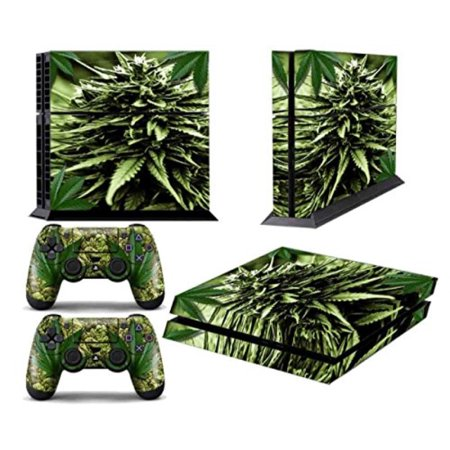 ps4 designer skin for sony playstation 4 console system plus two(2) decals for: ps4 dualshock controller - skunk