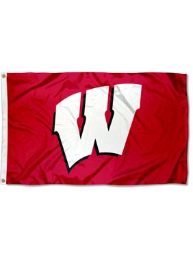 Wisconsin Badgers Red 3' x 5' Pole Flag