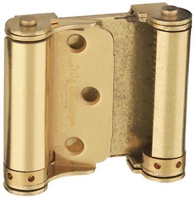 """V127 3"""" Satin Brass Double Acting Spring Hinge Double Action"""