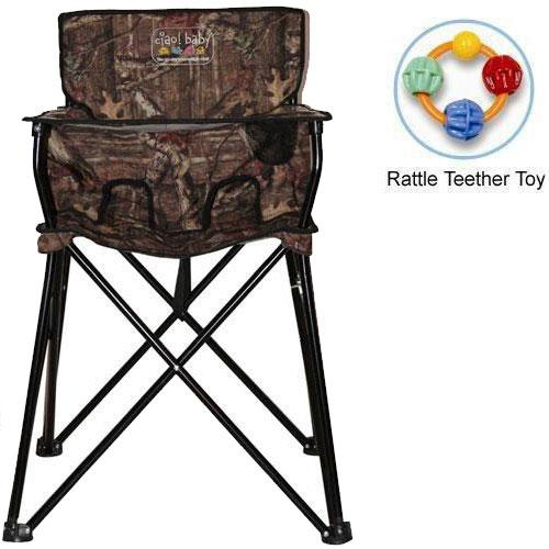ciao baby Portable High Chair with Rattle Teether Toy Mossy Oak Infinity by ciao baby