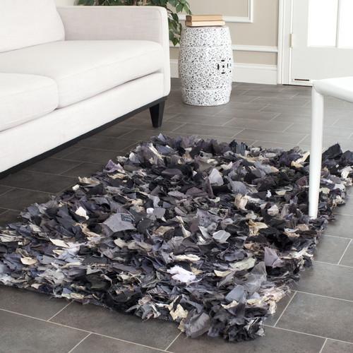 Safavieh Shag Black & Gray Area Rug