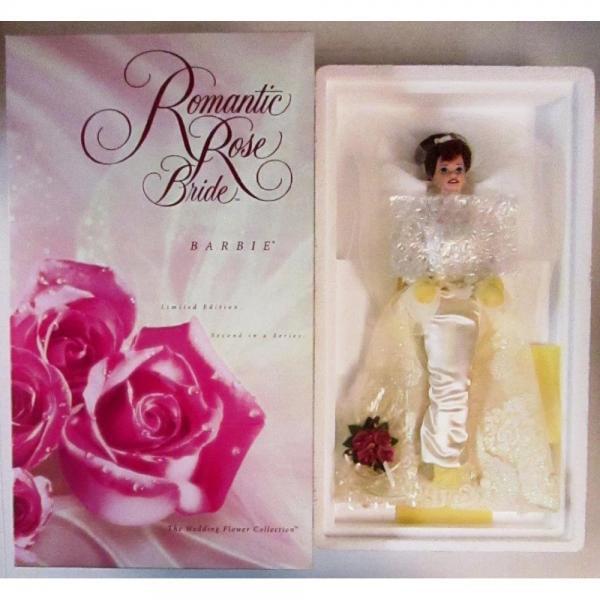 Mattel Romantic Rose Bride Porcelain Barbie Doll