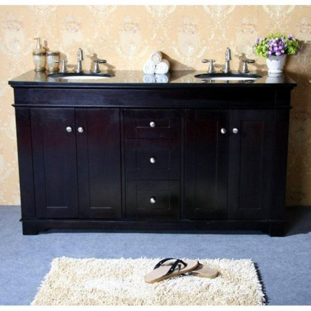 Legion Furniture Kingston 61-in. Double Bathroom Vanity - Espresso