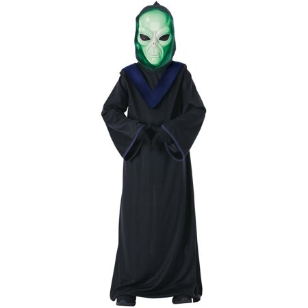 Halloween Glow in the Dark Alien Commander Child - Glow Girl Costume