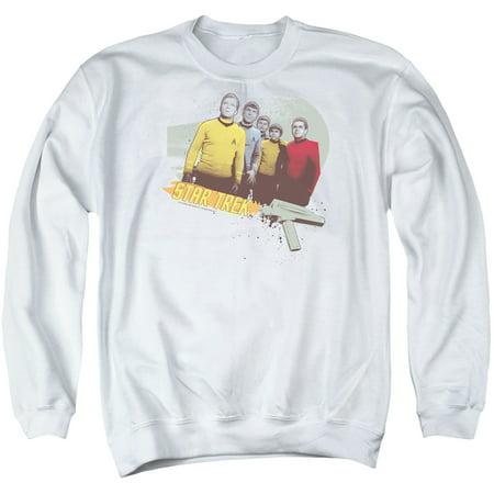 Star Trek 1960S Original Series Kirk Spock Scotty Dig It Adult Crew Sweatshirt