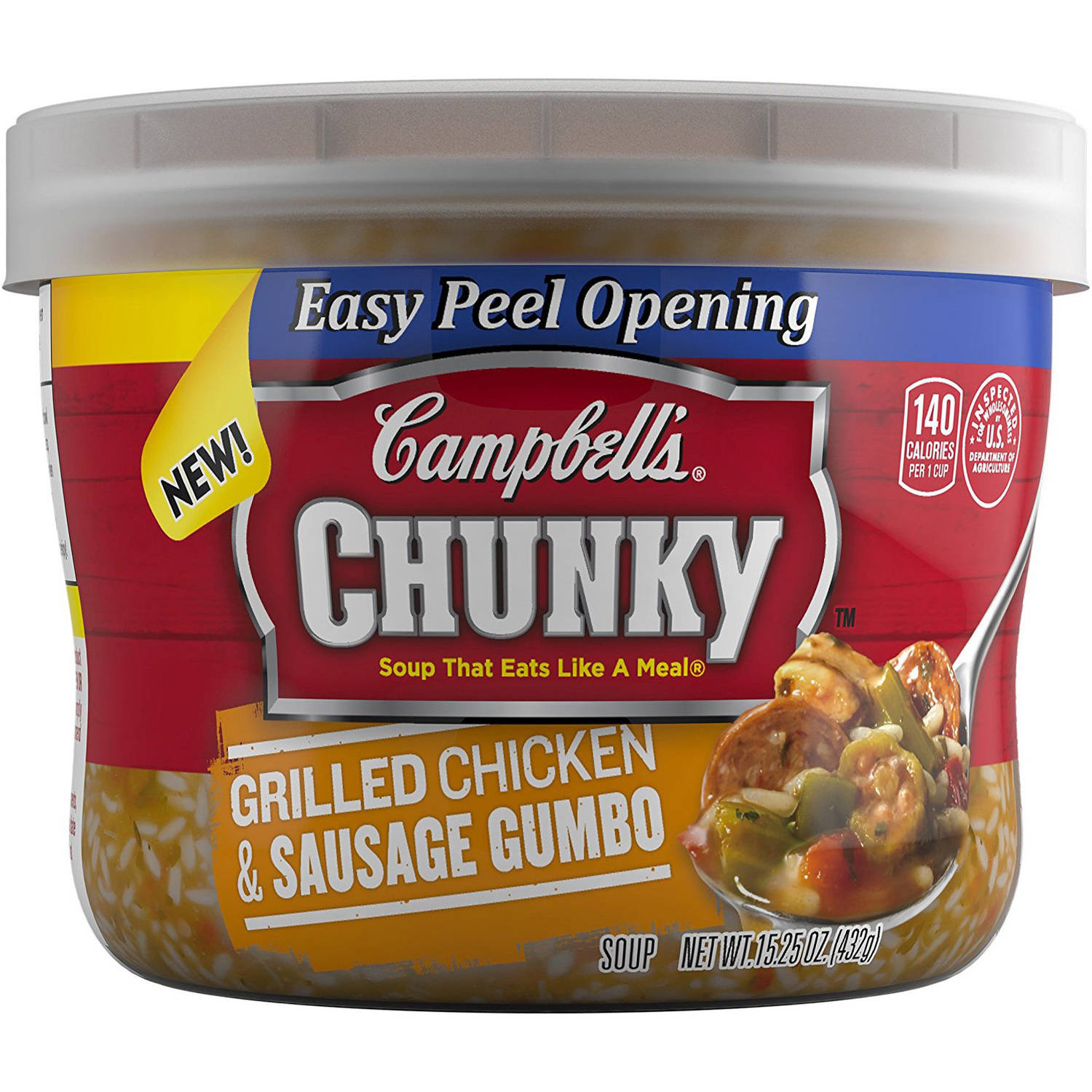 Campbell's Chunky Grilled Chicken & Sausage Gumbo Soup, 15.25 oz, (Pack of 8) by Campbell's