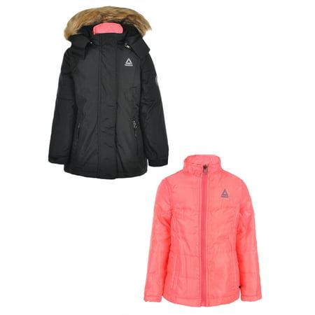 Stitch Insulated Jacket (Reebok Girls' Insulated Jacket)