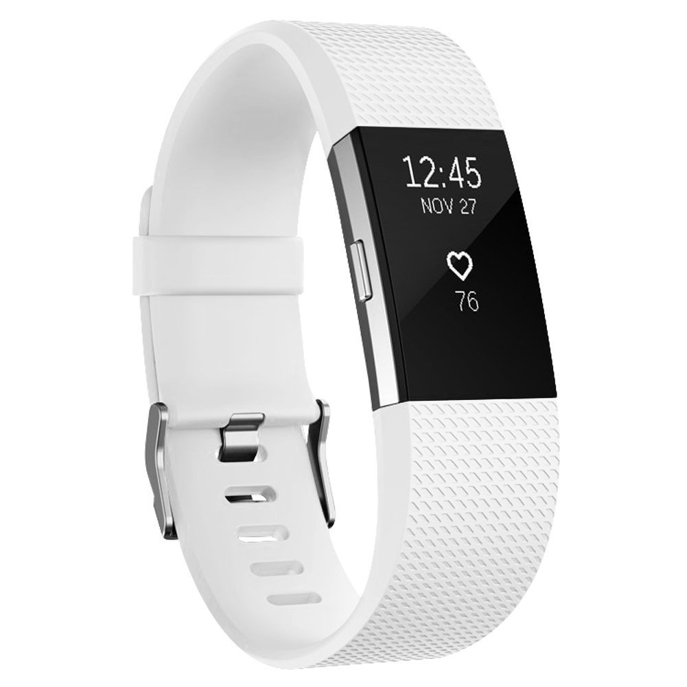 Vancle for Fitbit Charge 2 Bands Band Replacement Accessories Small Large Silicone Classic 10-Pack, Large