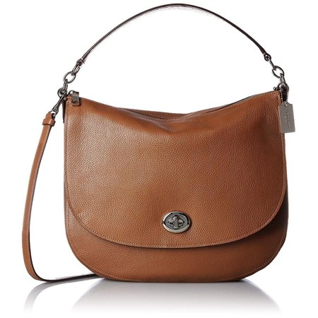 Coach Turnlock Hobo Pebbled Leather Handbag (Coach Large Scout Hobo In Pebbled Leather)