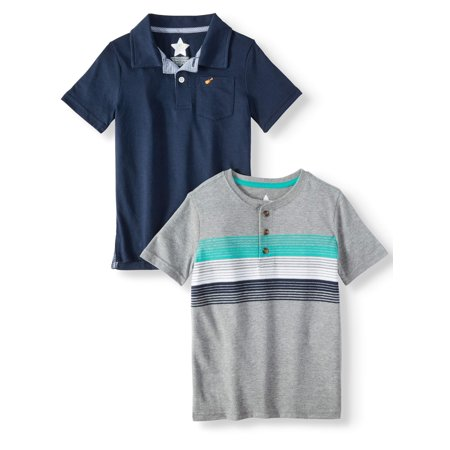 Hurley Cotton Polo Shirt (Polo Shirt & Henley Shirt, 2-Piece Multi-Pack (Little Boys & Big)