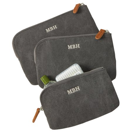 Personalized Redenvelope Canvas   Suede Travel Set
