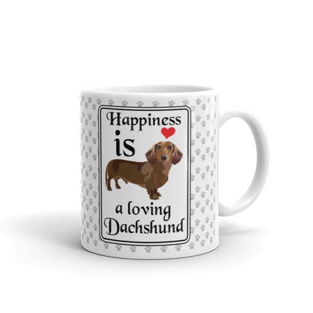 Happiness Is A Loving Dachshund Lover Coffee Tea Ceramic Mug Office Work Cup Gift 11 (Best Gift For Tea Lovers)