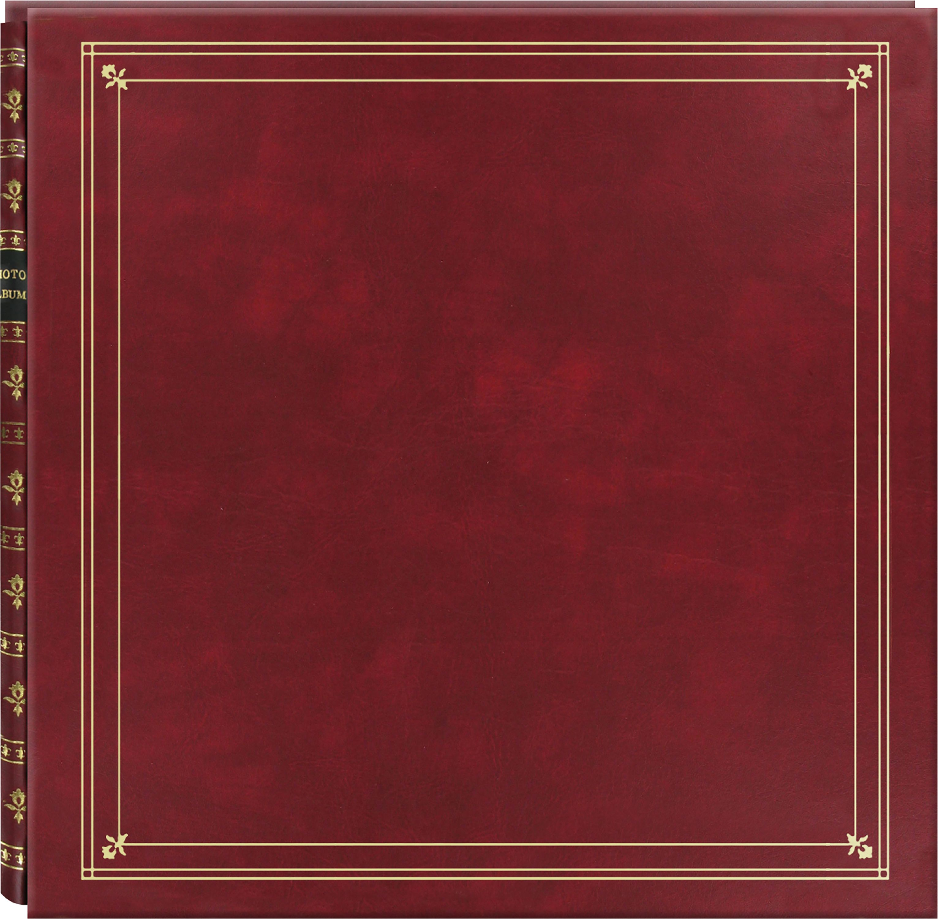 "Pioneer Memo Pocket Photo Album 14""X14""-Burgundy"