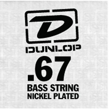 Dunlop Nickel Stainless Steel Bass Guitar String, .067 ()