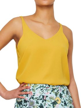 3215f1d83d5 Product Image Nlife Women V Neck Solid Color Chiffon Tank Top