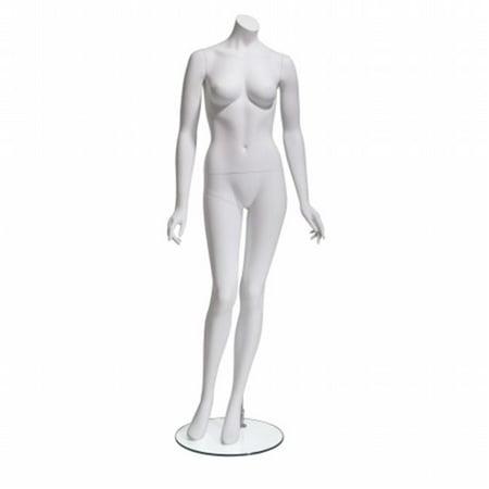 Mondo Mannequins' Eve Headless Female Mannequin in Matte White (Pose - Headless Mannequin