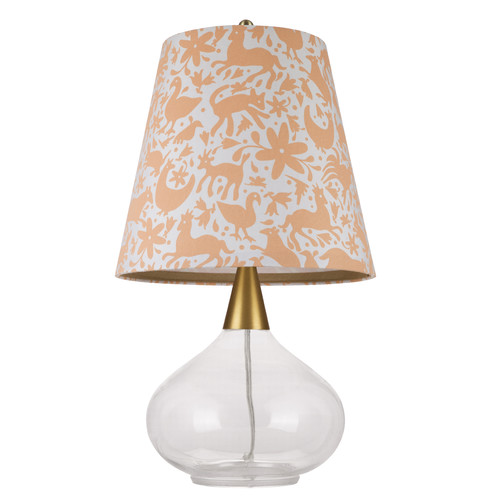 Cupcakes and Cashmere Teardrop Glass 19.25'' Table Lamp