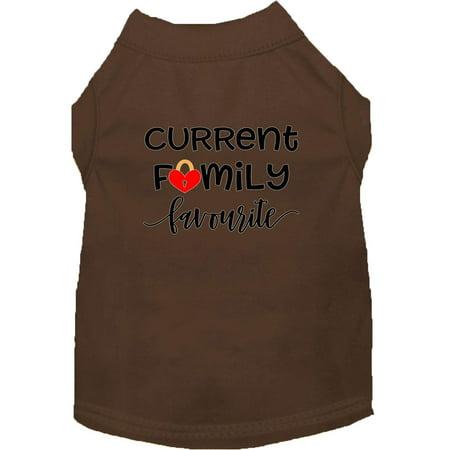 Family Favorite Screen Print Dog Shirt Brown