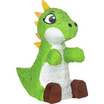 Green Baby Dinosaur Pinata](Baby Carriage Pinata)