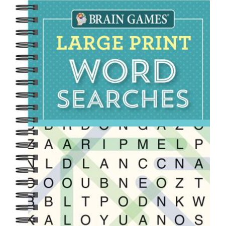 Brain Games Large Print Word Searchs - Word Search Halloween Easy