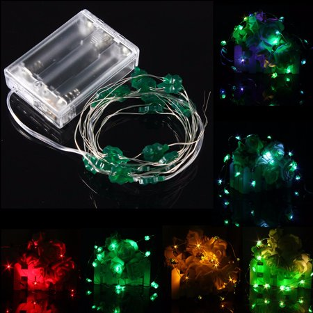 4.5V Waterproof IP67 2M 18 LED String Fairy Lights Battery For Chirstmas Xmas Lamps Party Wedding Curtain Lighting Battery Charge ()