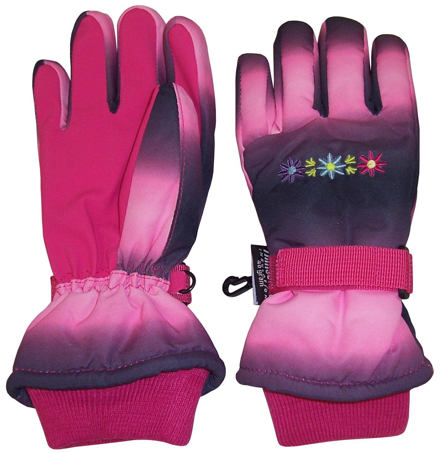 NICE CAPS Girls Waterproof and Thinsulate Insulated Multi Color Tye Dye Floral Ski Snow... by Harold J. Lehman Industries Inc.