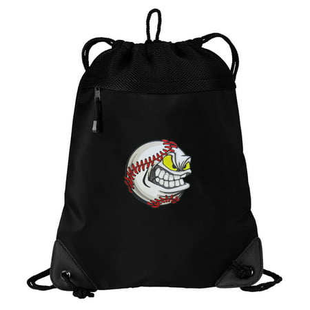Baseball Drawstring Bag Baseball Cinch Packs - Unique Mesh ...