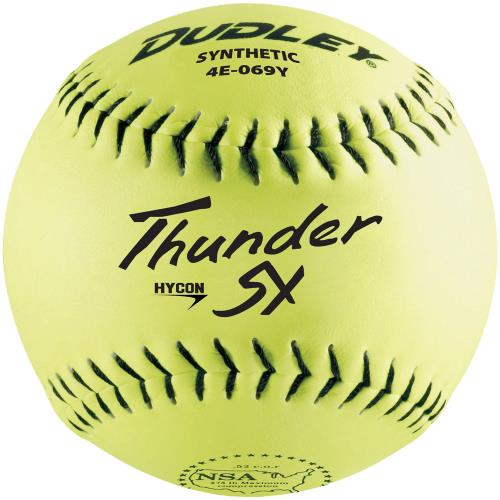 "Dudley 12"" Synthetic NSA .52/275 Softball - Dozen 4E-069Y-DZ"