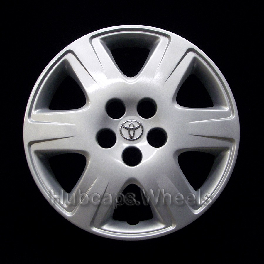 OEM Genuine Toyota 15-in Wheel Cover - Professionally Refinished Like New - Corolla 2005-2008 OEM Hubcap 6-Spoke Design
