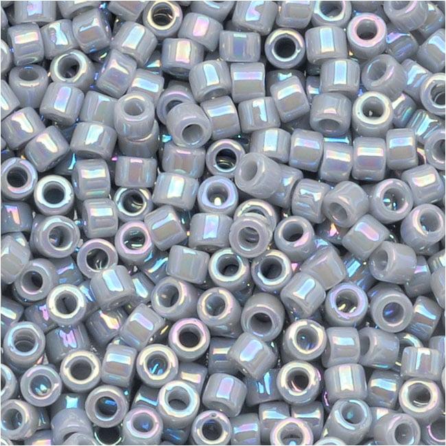 Miyuki Delica Seed Beads 11/0 Opaque Ghost Grey AB DB1579 7.2 Grams