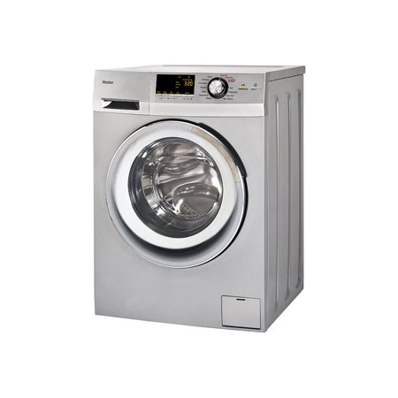 Haier HLC1700AXS - Washer/dryer - freestanding - width: 23.4 in - depth: 22.5 in - height: 33.3 in - front loading - 2 cu. ft - 1200 rpm - silver All In One Washer Dryer Combo